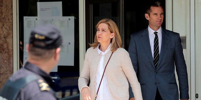 The Supreme Court also upheld the verdict that Princess Cristina (pictured with her husband in 2016) benefited from her husband's crimes