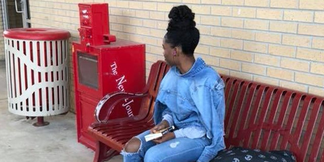 The teenager was forced to wait at the school for two hours for her mother to come pick her up.