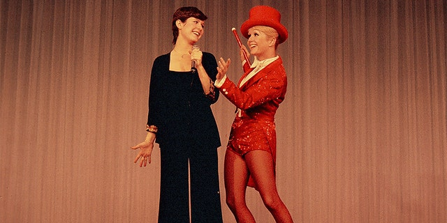 """Mom and Carrie at the London Palladium in 1974."""
