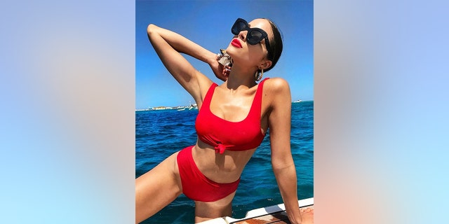 "Olivia Culpo unveiled a red-hot look this year when she hit the waves, but not before striking a pose for the 'gram. For more photos of Culpo, visit <a data-cke-saved-href=""https://hollywoodlife.com"" href=""https://hollywoodlife.com"" target=""_blank"">HollywoodLife.com</a>."