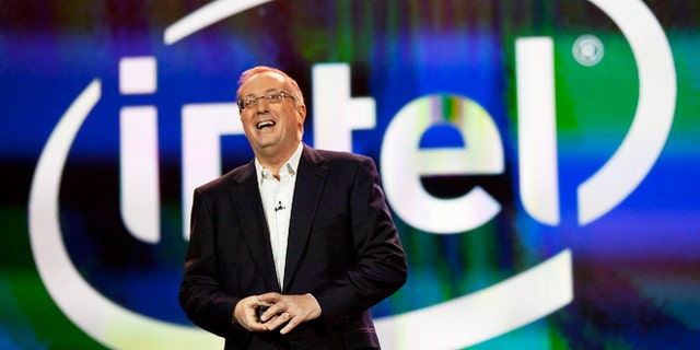 Jan. 10, 2012: Intel president and CEO Paul Otellini speaks during his keynote address at the 2012 International CES tradeshow, in Las Vegas.