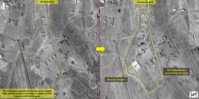 The new Iranian base, eight miles northwest of Damascus, is operated by the special operations arm of Tehran's Islamic Revolutionary Guard Corps.