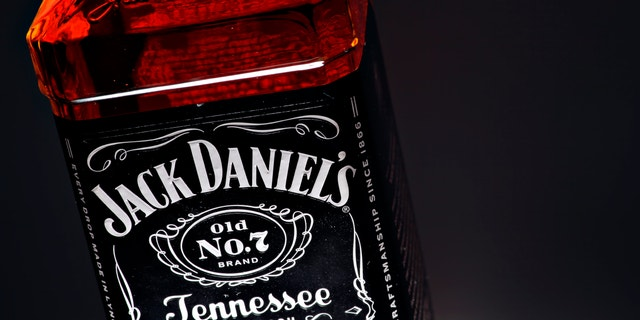 Bucharest, Romania - January 21, 2012: Color studio shot of a bottle of jack Daniel's whiskey. Jack Daniel's is a brand of sour mash Tennessee whiskey that is among the world's best-selling liquors