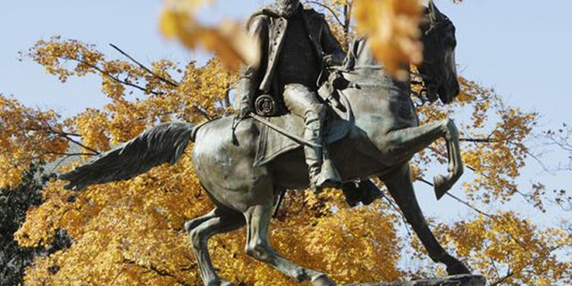The onetime Confederate capital of Richmond, Va., features several monuments to the South's Civil War leaders, including this one depicting Gen. J.E.B. Stuart. (AP)