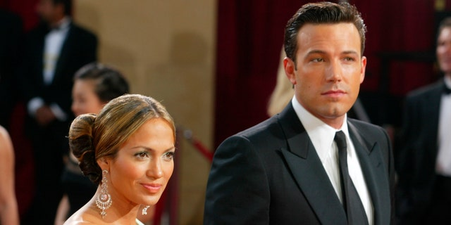 Ben Affleck and Jennifer Lopez attend the 75th Annual Academy Awards at the Kodak Theater on March 23, 2003 in Hollywood, Calif.