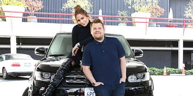 Jennifer Lopez joins James Corden for Carpool Karaoke on THE LATE LATE SHOW CARPOOL KARAOKE PRIMETIME SPECIAL, airing Tuesday, March 29th 2016 (10:00-11:00 PM, ET/PT) on The CBS Television Network.     Photo: Cliff Lipson/CBS ©2016 CBS Broadcasting, Inc. All Rights Reserved