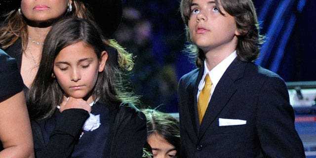 Paris, Blanket and Prince Jackson (l to r)