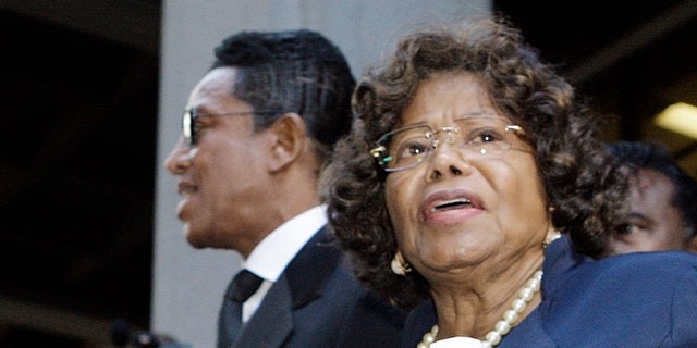 Nov. 29, 2011: In this photo, Michael Jackson's mother Katherine Jackson and brother Jermaine Jackson leave after the sentencing of Conrad Murray at the Los Angeles Criminal Justice Center.