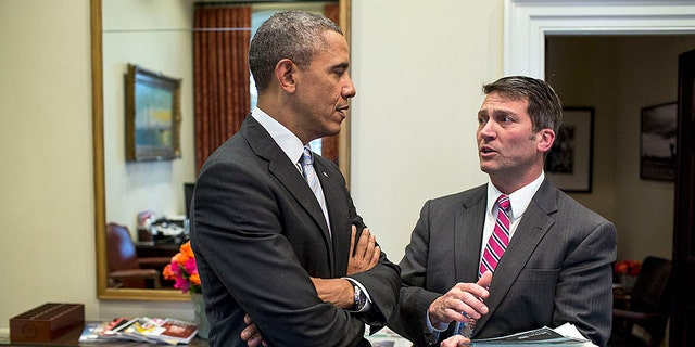 Dr. Jeffrey Kuhlman talks to President Barack Obama in this undated photo.