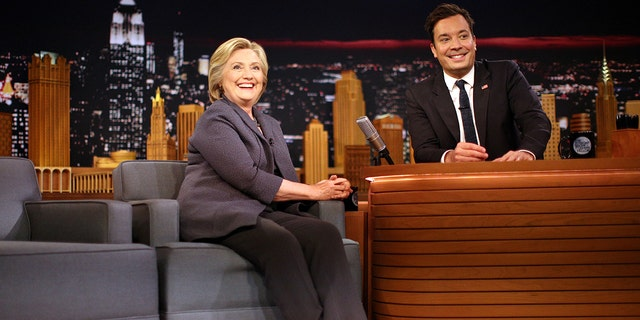 "Democratic nominee Hillary Clinton's attends the taping of ""The Tonight Show"" with Jimmy Fallon in New York, U.S., September 16, 2016. REUTERS/Carlos Barria - S1BEUBRSZRAA"