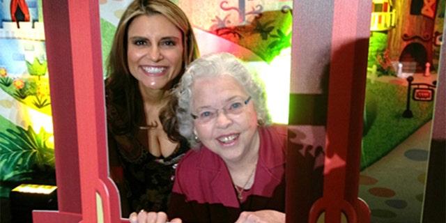 Angela Santomero with Joanne Rogers.
