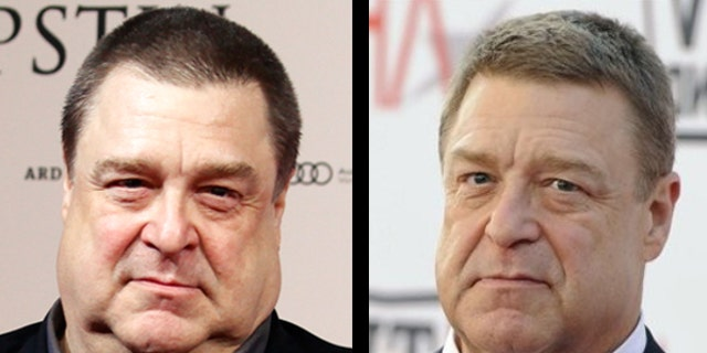 John Goodman is seen before and after his 100-lbs. weight loss.