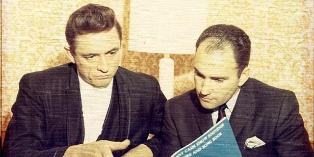 Johnny Cash and Saul Holiff in Nashville, 1966.