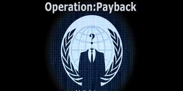 A screenshot from a proganda video released by the anonymous group that attacked the websites of MasterCard, Visa and other sites.