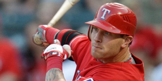 Aug. 27, 2010: Texas Rangers' Josh Hamilton hitting a double against the Oakland Athletics Hamilton was awarded American League's Most Valuable Player.