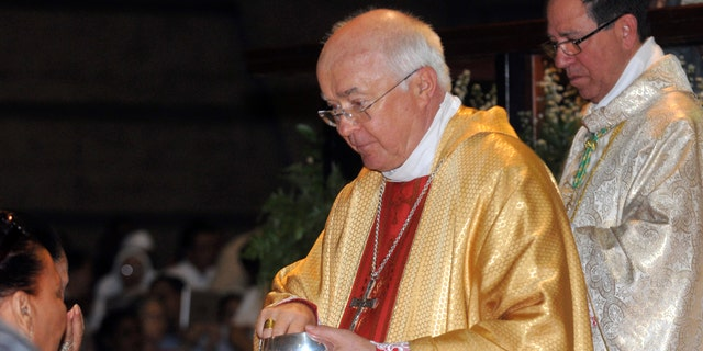 Archbishop Josef Wesolowski, papal nuncio for the Dominican Republic, leads a Mass in Santo Domingo, on March 15, 2013.