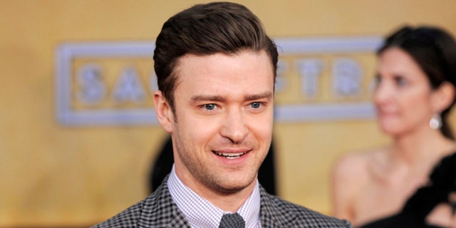 Jan. 27, 2013: This file photo shows actor-singer Justin Timberlake at the 19th Annual Screen Actors Guild Awards at the Shrine Auditorium in Los Angeles.