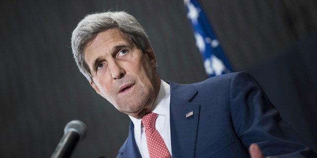 Sept. 13, 2014: Secretary of State John Kerry at a press conference in Cairo, Egypt.