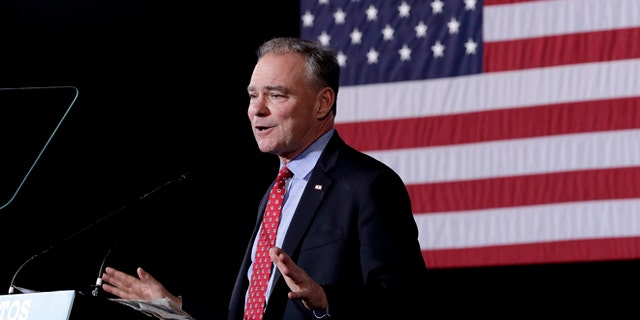 Democratic Sen. Tim Kaine, D-Va., on Thursday, Nov. 3, 2016, in Phoenix.
