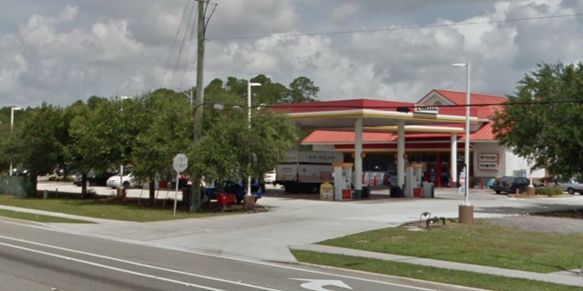 "An employee at a Kangaroo Express store in Jacksonville, Florida, called police on Sunday when she saw a woman mouth the word ""help"" to him as she was confined to a vehicle."