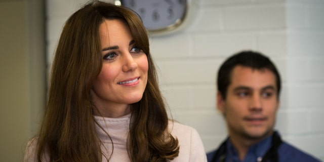 Kate, Duchess of Cambridge, visits Jimmy's, a night shelter in Cambridge.