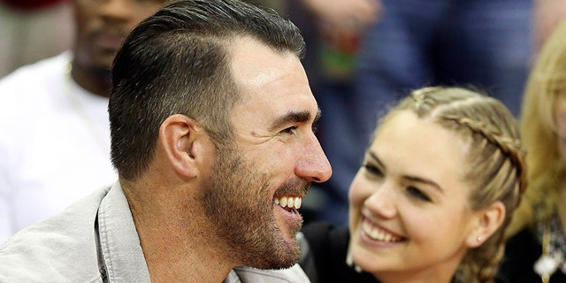 Justin Verlander and Kate Upton are expecting their first child together, the supermodel announced on Saturday, July 14, 2018.