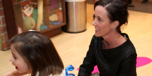 Kate Spade with daughter Frances Beatrix Spade in March 2009.