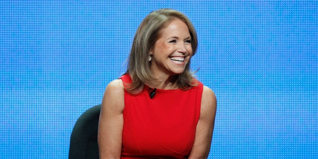 """Host Katie Couric attends a panel for """"Katie"""" during the Disney/ABC Television Group portion of the Television Critics Association Summer press tour in Beverly Hills, California July 26, 2012."""