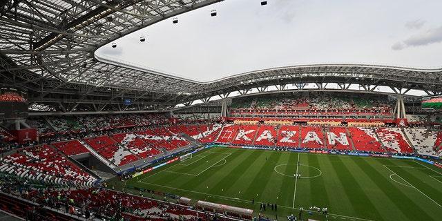 Kazan Arena in Kazan opened in 2013.
