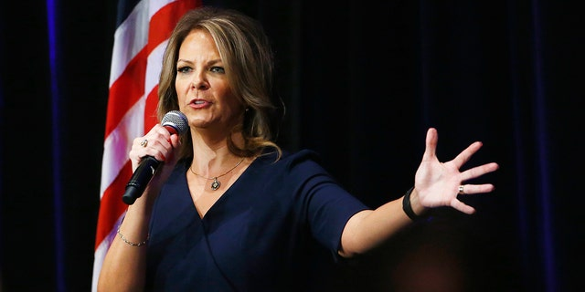 Arpaio is at war with fellow hardliner Kelli Ward (pictured). Each have accused the other of splitting the vote, while her husband recently posted a comment under an Arizona Republic article which Arpaio interpreted as a slight on his age