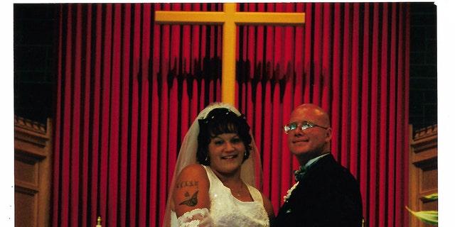 Kelly Cochran and Jason Cochran on their wedding day.