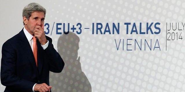 July 15, 2014: Secretary of State John Kerry in Vienna.