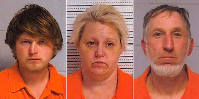 Wendall Tolbert, 51, (left) Keshia Martin Black, 42, and Bryan Loys Sears, 25, were arrested in connection with vandalism at a war memorial in Georgia.