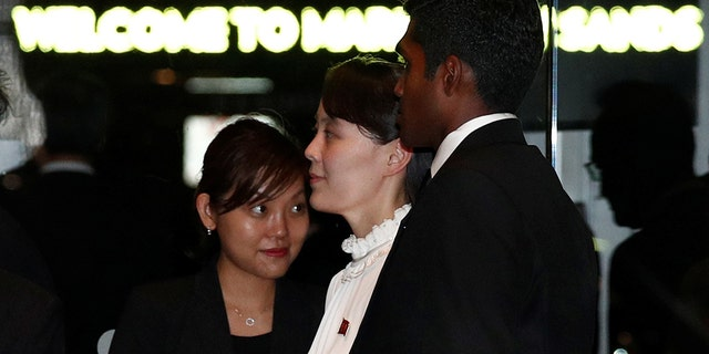 Kim's sister Kim Yo Jong joined the North Korean leader Monday night during a tour in Singapore.