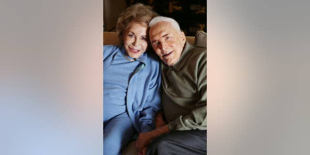 Kirk Douglas and wife Anne on Dec. 5, 2014.