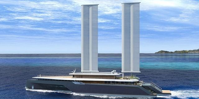 The 282ft trimaran called Komorebi is part sailboat part speedboat.