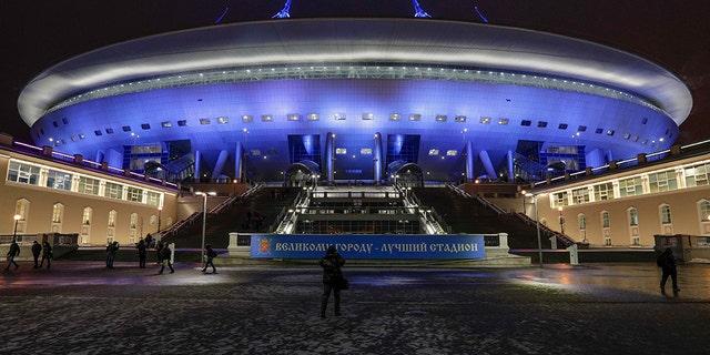Saint Petersburg Stadium in St. Petersburg, Russia.