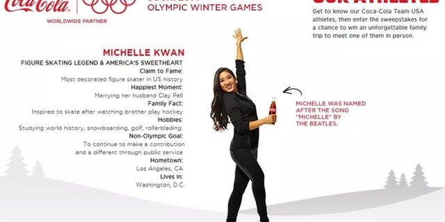 The decorated figure skater was criticized for her conflicting roles as a member of a federal health committee and as an ambassador for Coca-Cola