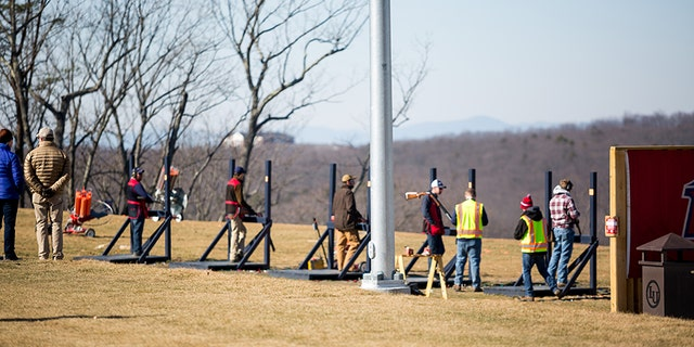 The Liberty University shooting team holds their first competition vs. James Madison University on at the new Liberty Mountain Gun Club on February 3, 2018.