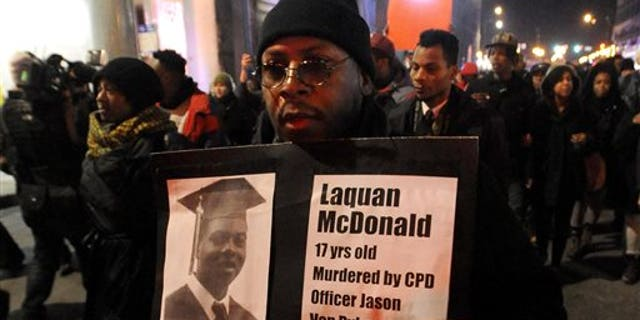 The death of Laquan McDonald triggered protests in Chicago.