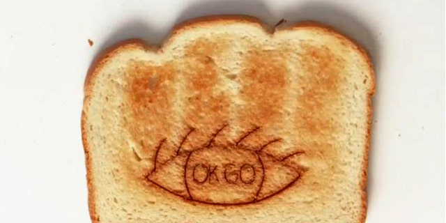 The video for the latest song by viral-video experts OK Go features stop-motion animation -- on nearly 3,000 pieces of toast.