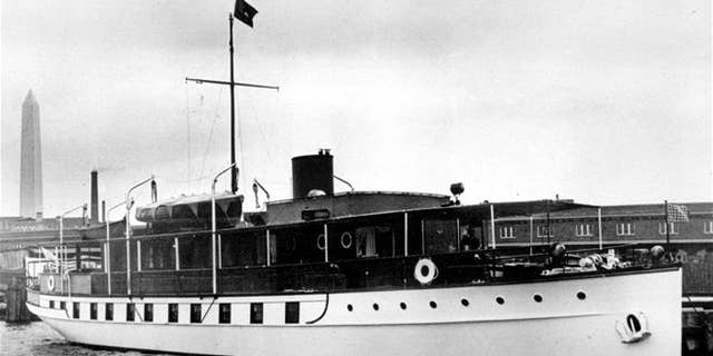 In this March 3, 1932, file photo, the USS Sequoia is viewed in Washington, DC. An investment group with ties to a wealthy industrialist family in India can take ownership of the former US presidential yacht Sequoia with no payment to its current owner, a Delaware judge ruled Monday, Nov. 14, 2016.