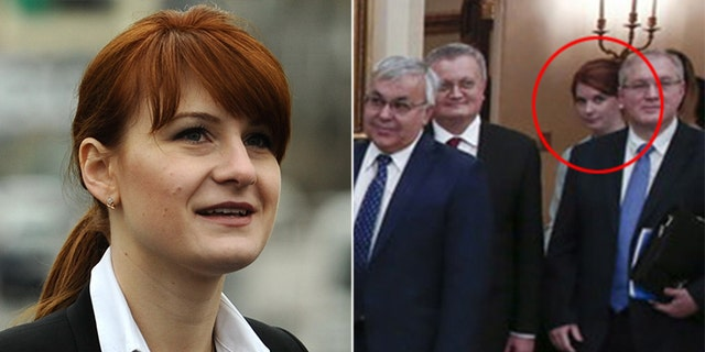 Mic reporter Emily Singer said that alleged Russian spy Maria Butina (left) was in the White house, but it was a National Security Council employee.