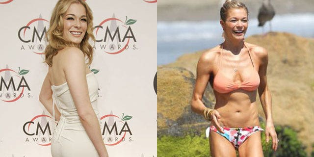 LeAnn Rimes thought she was fat before her drastic weight loss (right). Reuters/X17 Online