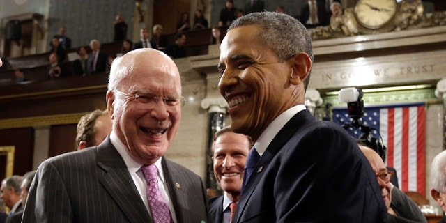 "Sen. Patrick Leahy, D-Vt., left, said during the Obama administration in 2013 that there needed to be ""stronger oversight"" in FISA processes."