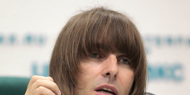 Former Oasis front man Liam Gallagher answers a question during a news conference in Moscow June 3, 2011.