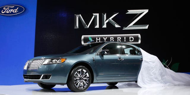 The 2011 Lincoln MKZ Hybrid is unveiled at the 2010 New York Auto Show