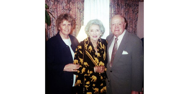 Linda Hope (left) with her parents.