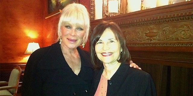 Linda Evans and Sue Cameron