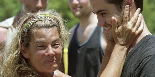 """Lisa Whelchel and Justice Coleman during """"Survivor: Philippines."""""""